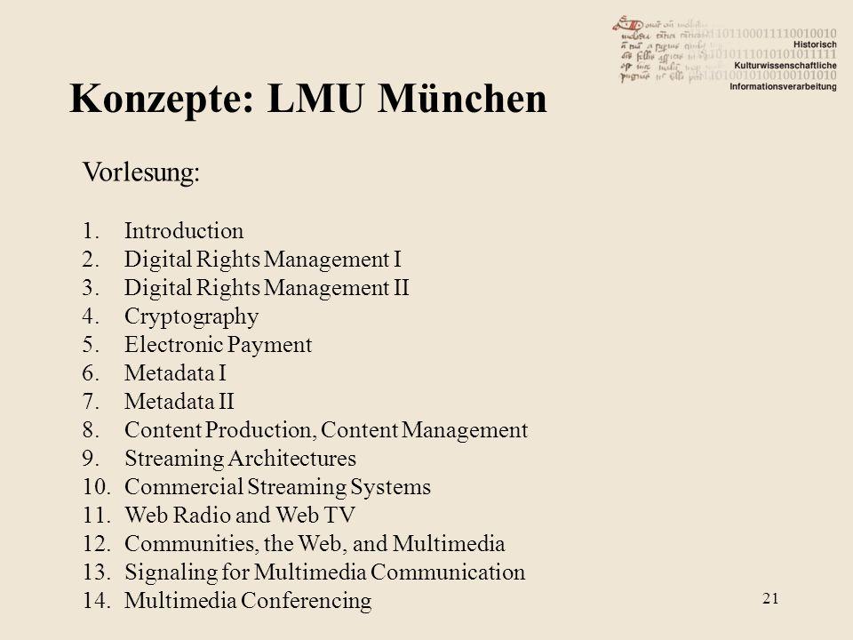 Konzepte: LMU München Vorlesung: Introduction