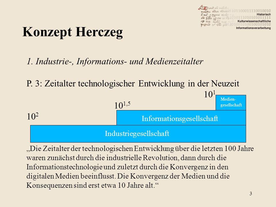 Konzept Herczeg 1. Industrie-, Informations- und Medienzeitalter