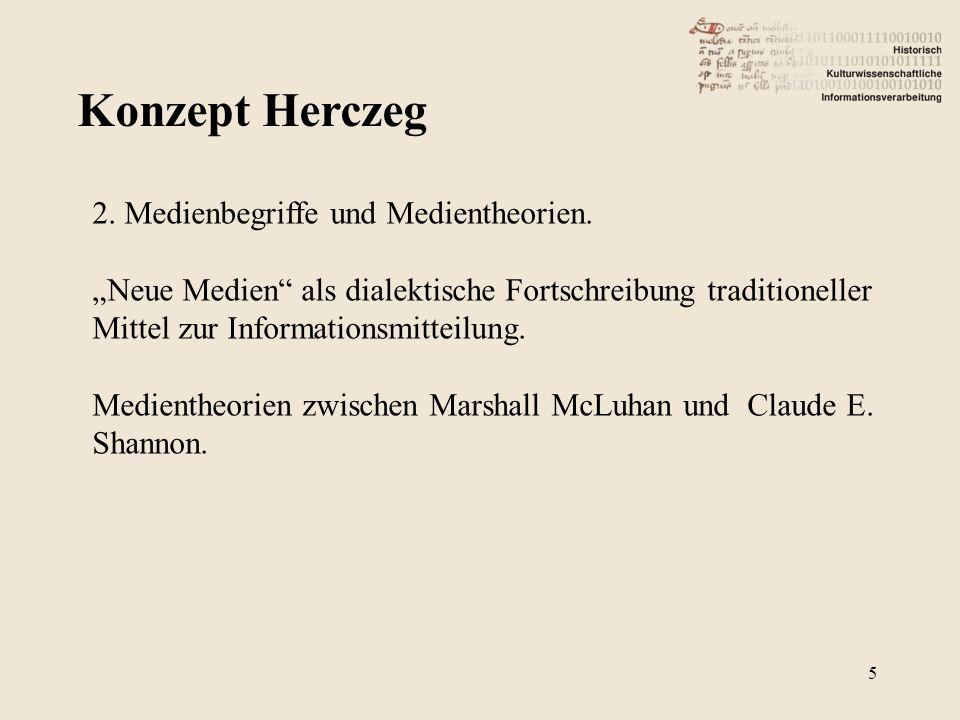 Konzept Herczeg 2. Medienbegriffe und Medientheorien.