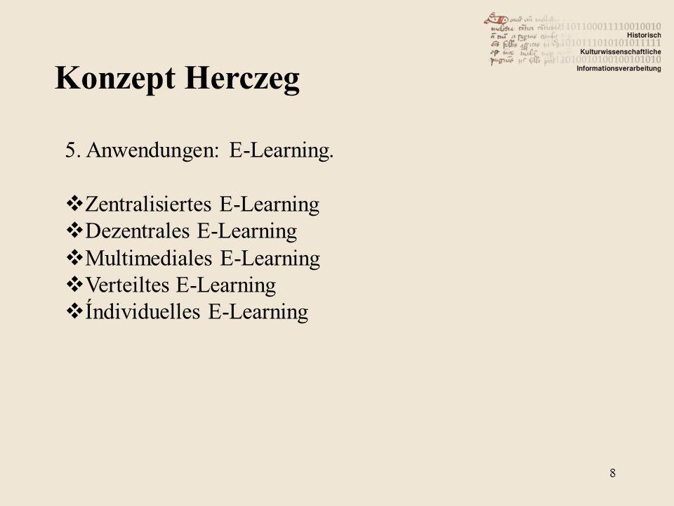 Konzept Herczeg 5. Anwendungen: E-Learning. Zentralisiertes E-Learning