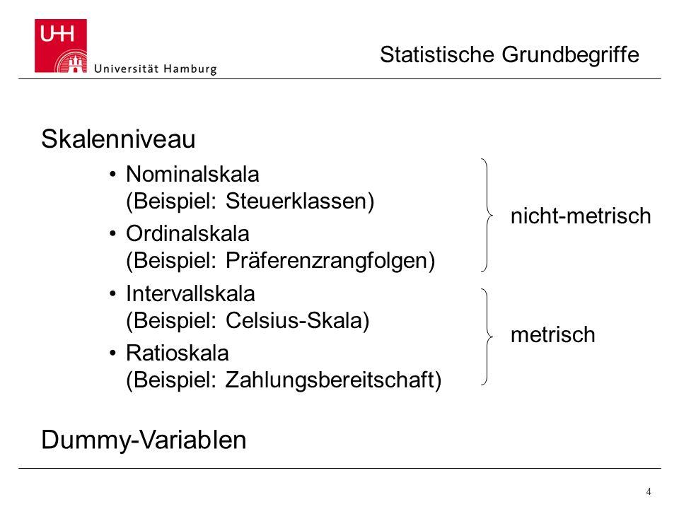 Statistische Grundbegriffe
