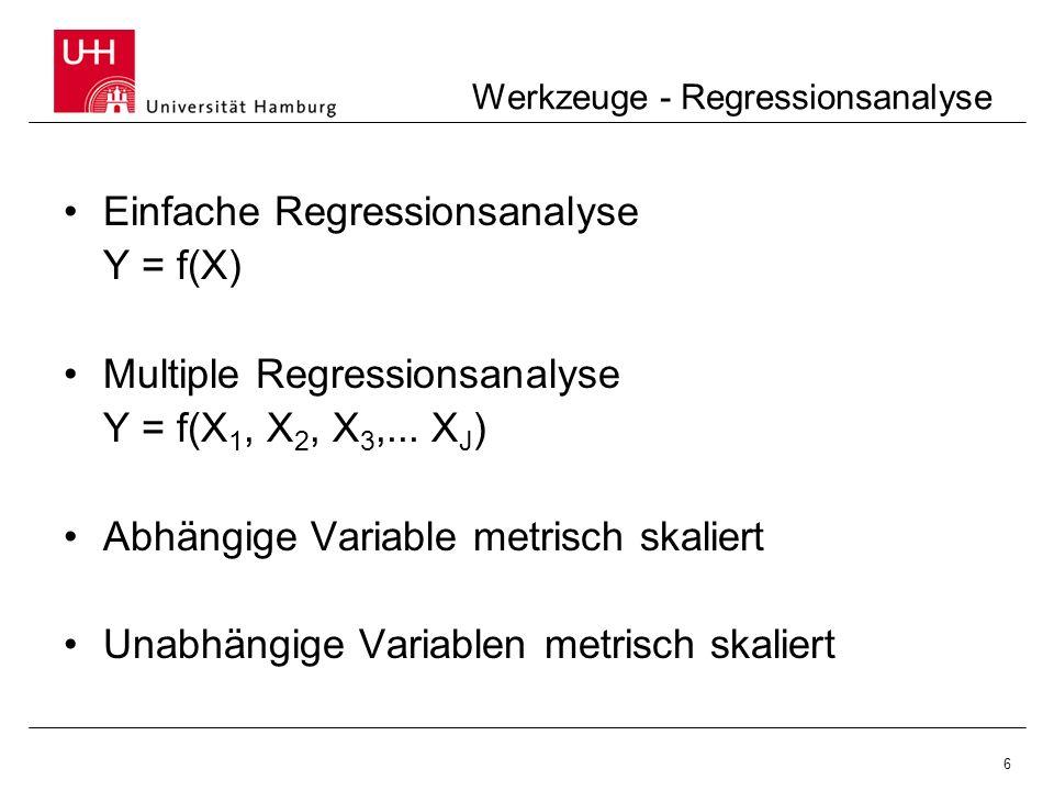 Werkzeuge - Regressionsanalyse
