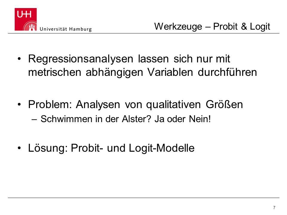 Werkzeuge – Probit & Logit