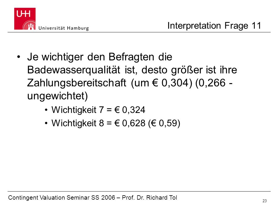 Interpretation Frage 11