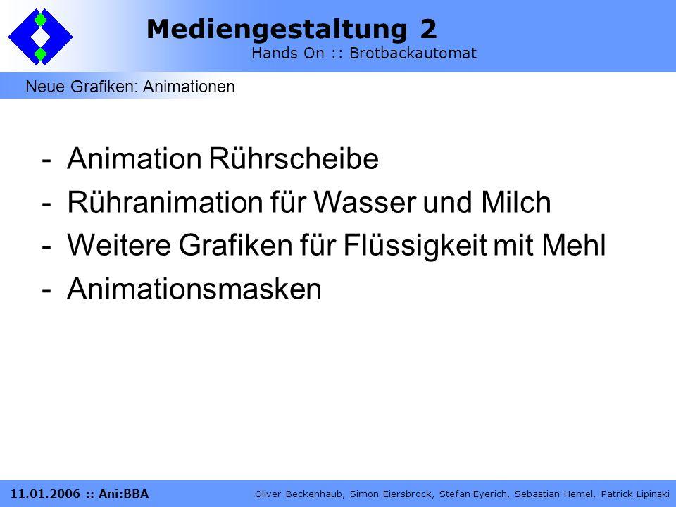 Animation Rührscheibe Rühranimation für Wasser und Milch
