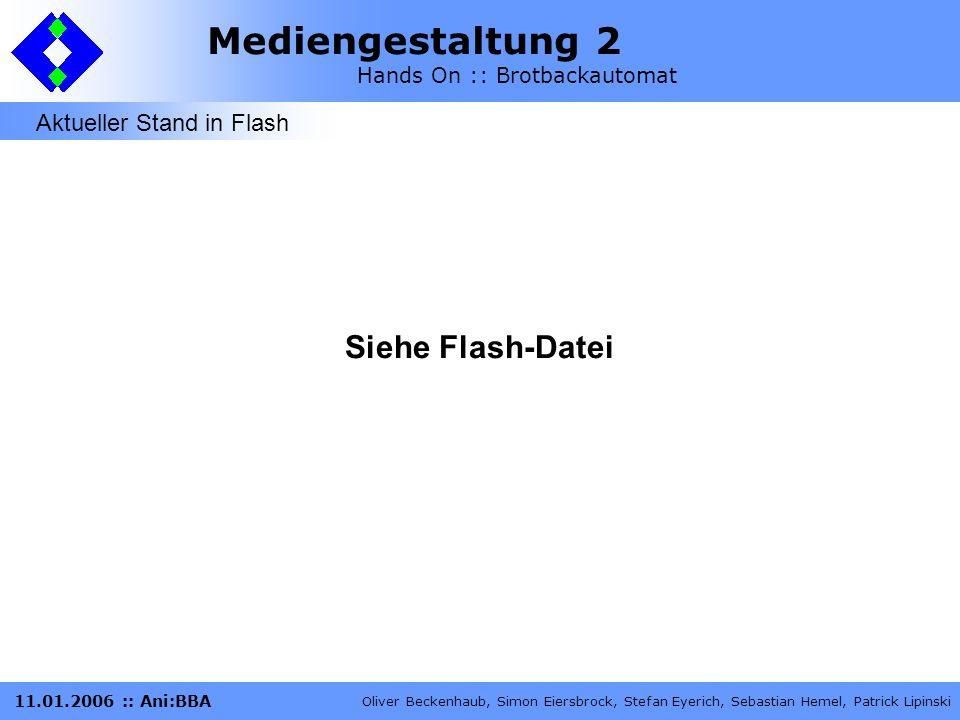 Aktueller Stand in Flash
