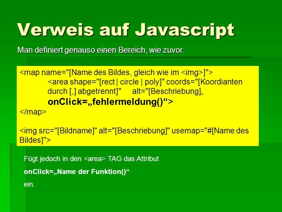 Verweis auf Javascript