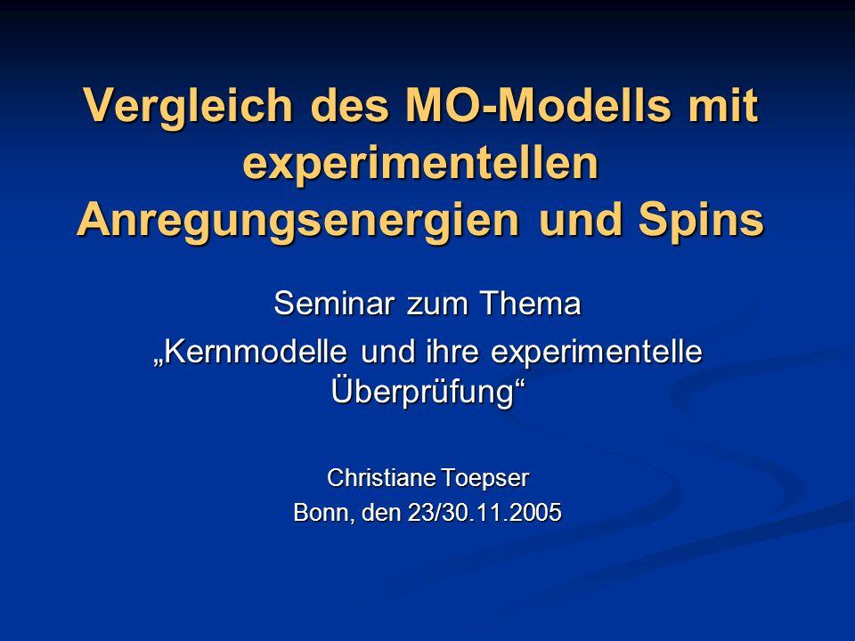 """""""Kernmodelle und ihre experimentelle Überprüfung"""