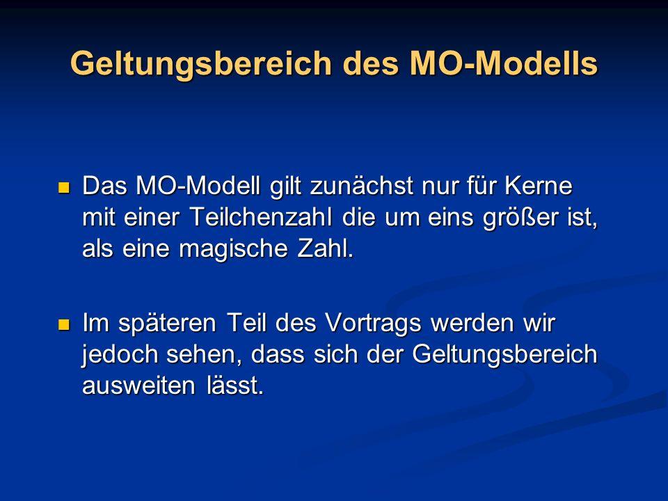 Geltungsbereich des MO-Modells
