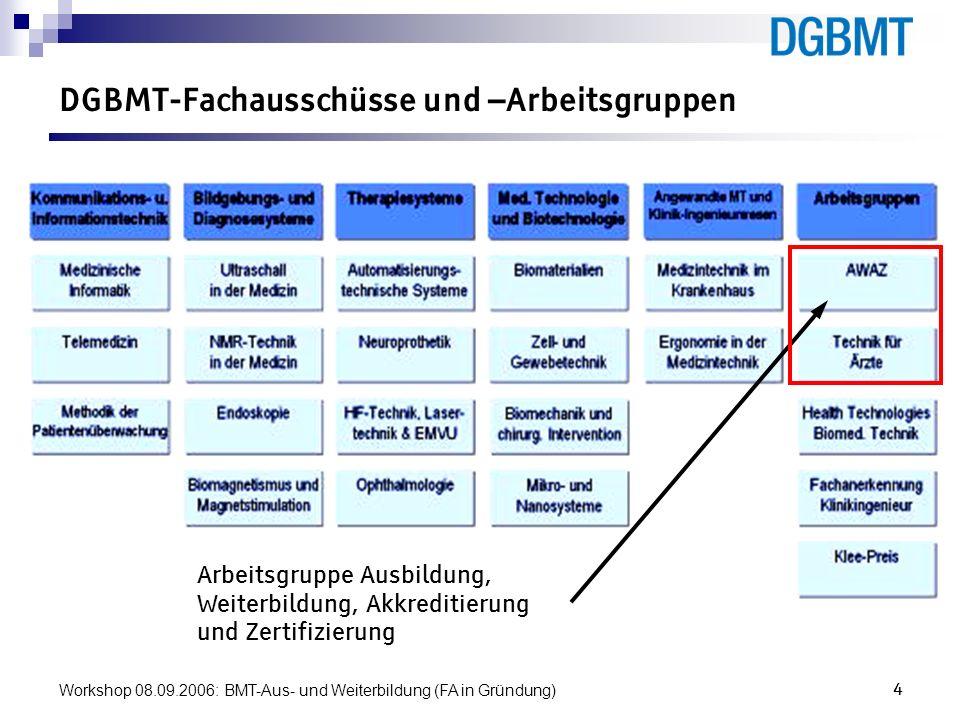 DGBMT-Fachausschüsse und –Arbeitsgruppen