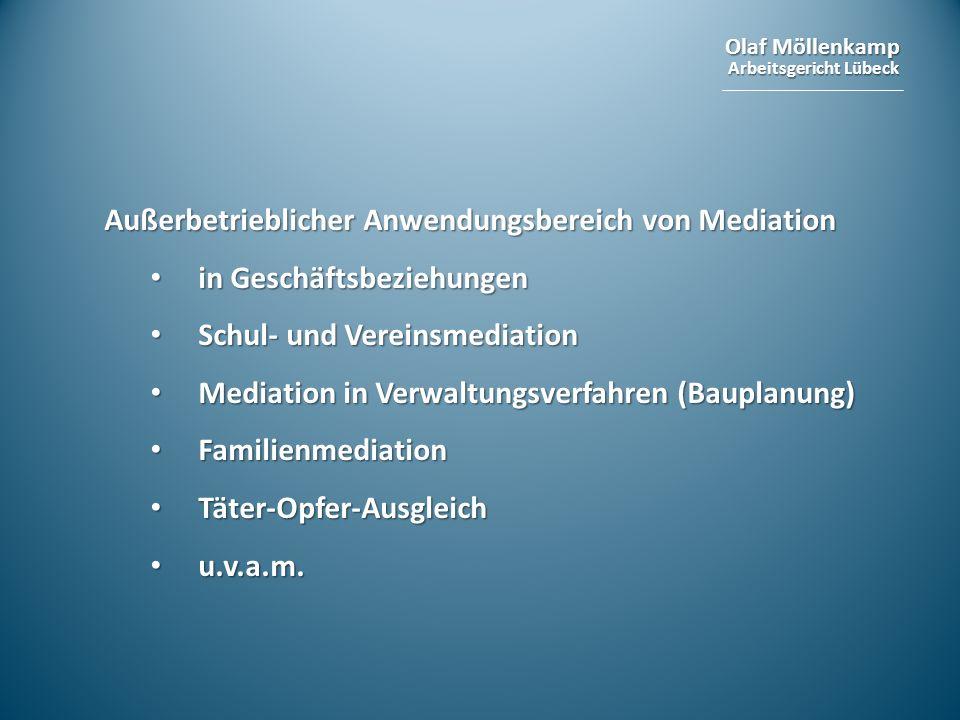 Außerbetrieblicher Anwendungsbereich von Mediation