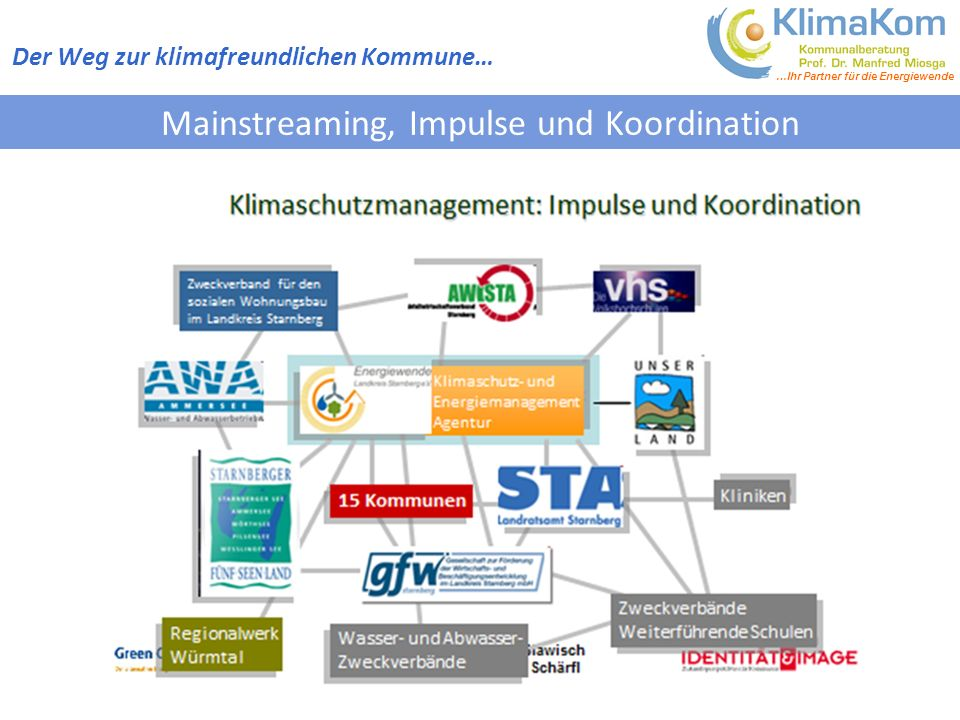 Mainstreaming, Impulse und Koordination