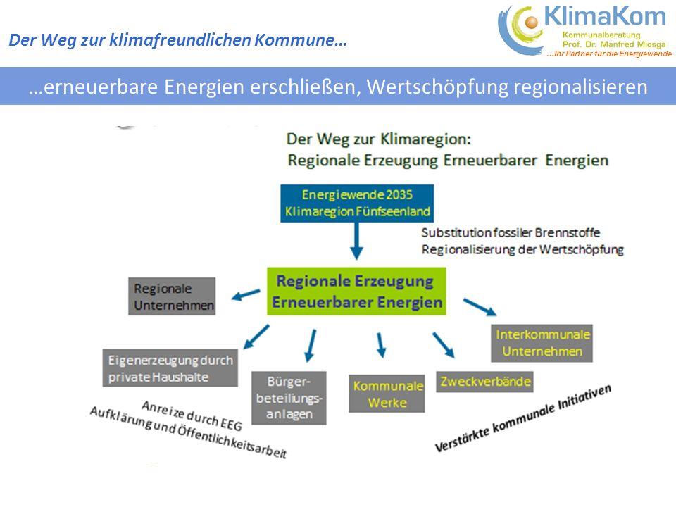 …erneuerbare Energien erschließen, Wertschöpfung regionalisieren