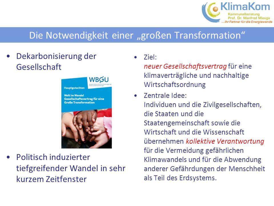 """Die Notwendigkeit einer """"großen Transformation"""