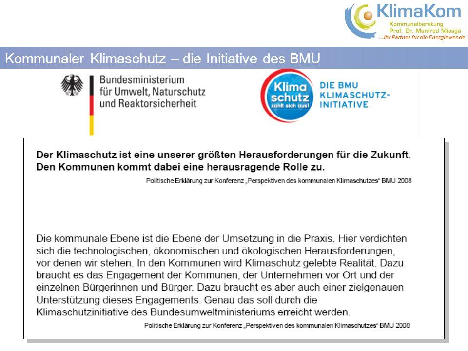 Kommunaler Klimaschutz – die Initiative des BMU
