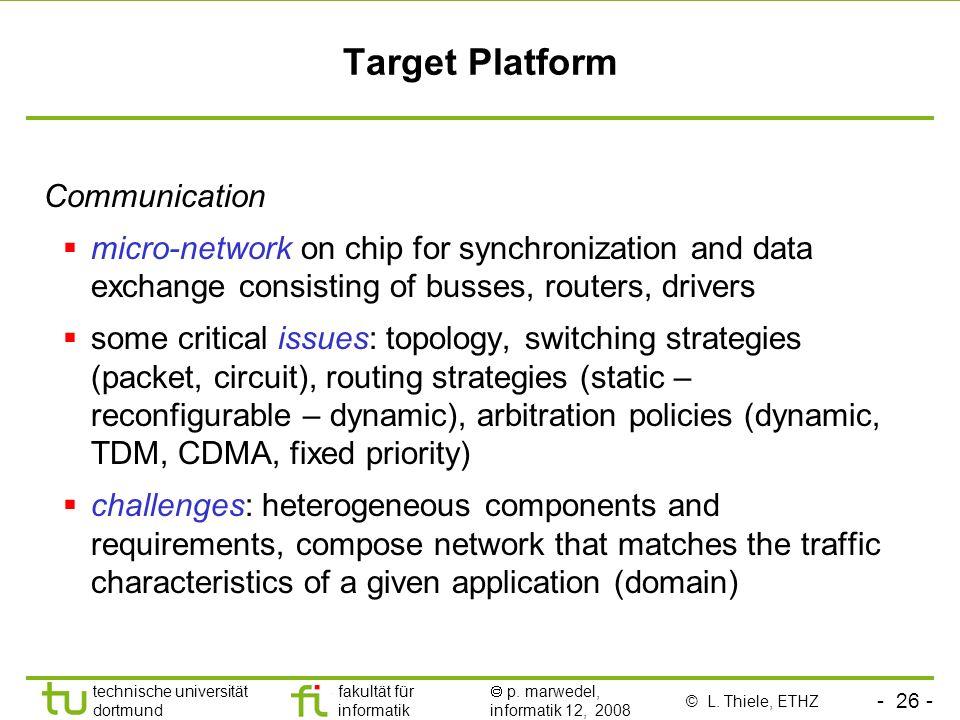 Target Platform Communication