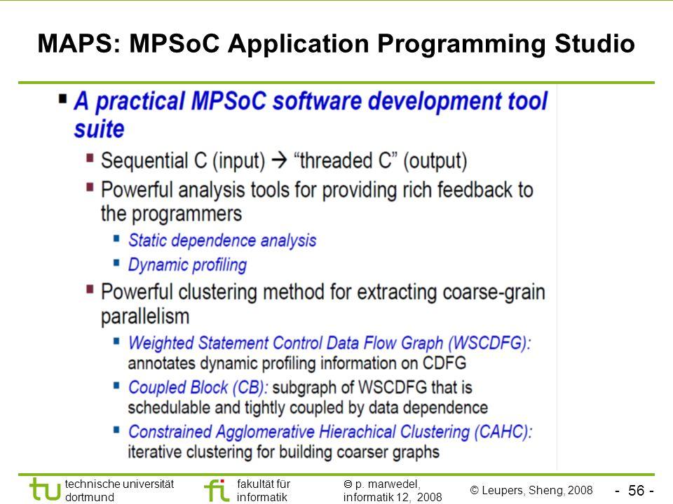 MAPS: MPSoC Application Programming Studio