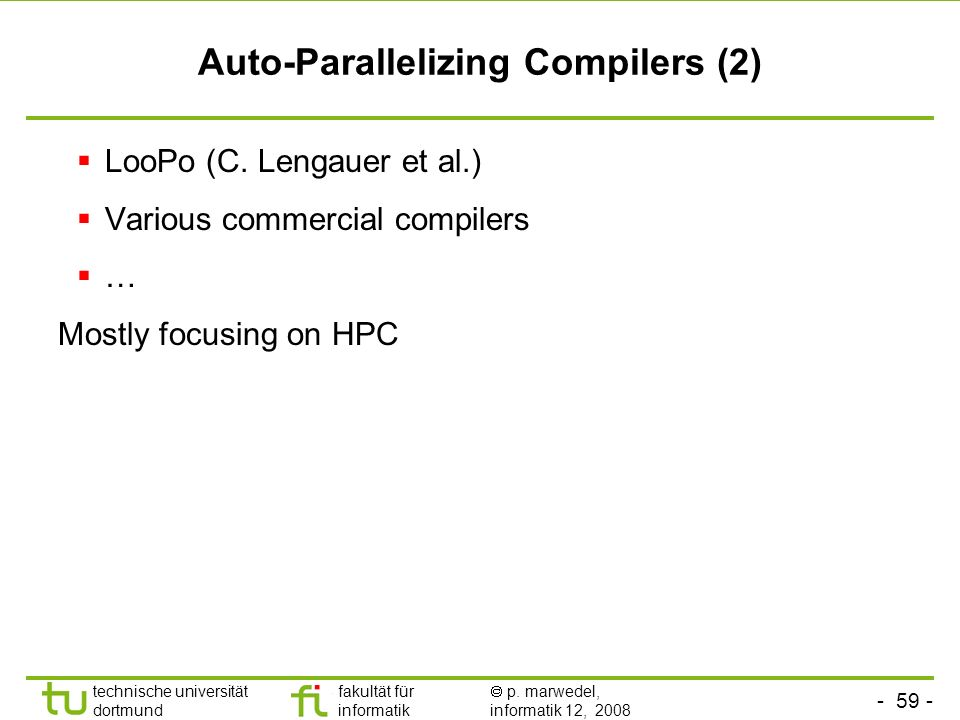 Auto-Parallelizing Compilers (2)