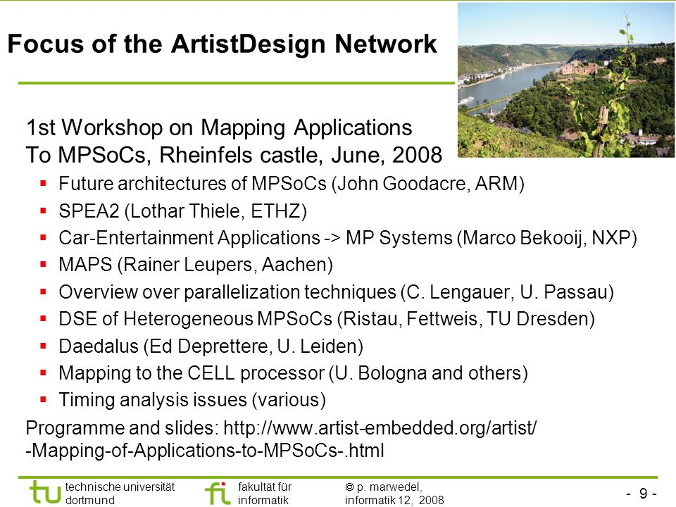 Focus of the ArtistDesign Network