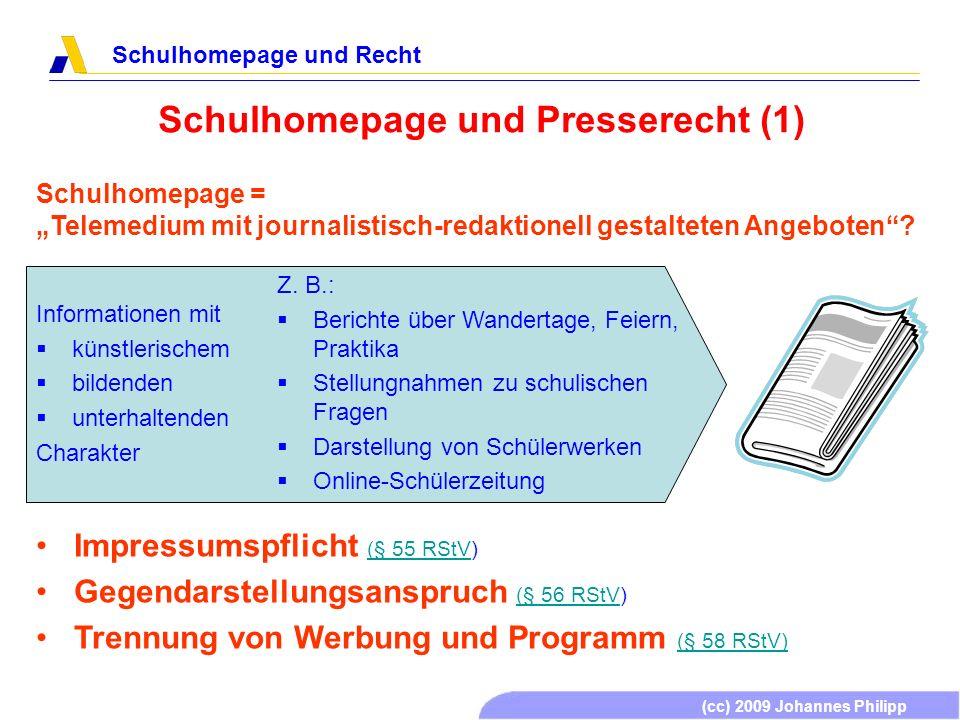 Schulhomepage und Presserecht (1)