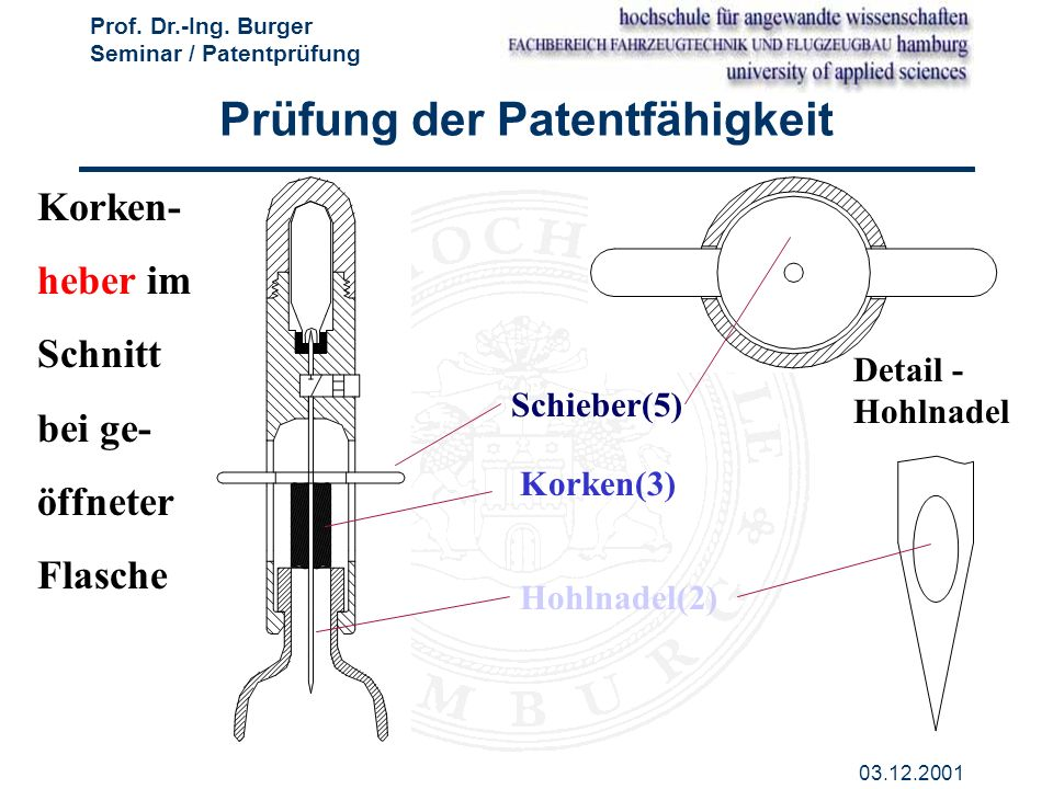 Prüfung der Patentfähigkeit