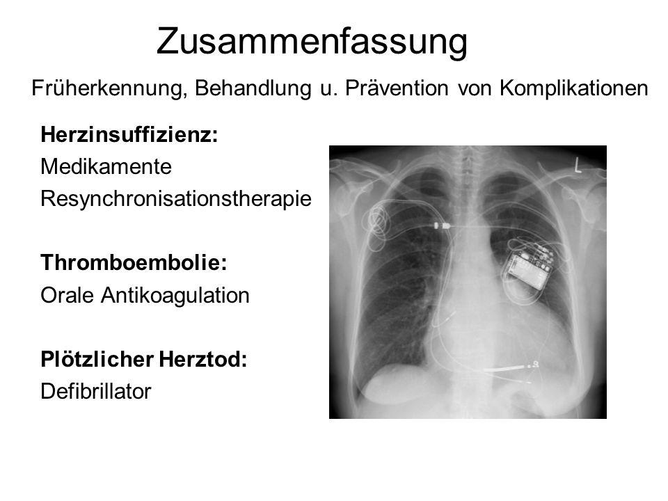 Früherkennung, Behandlung u. Prävention von Komplikationen