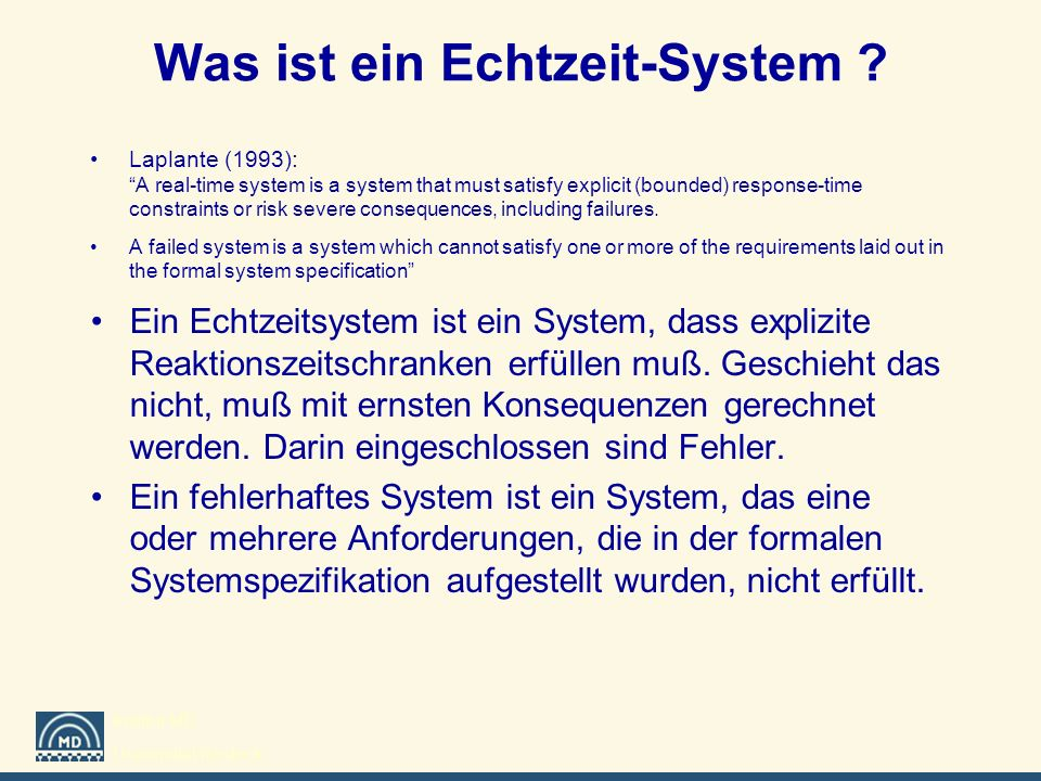 Was ist ein Echtzeit-System