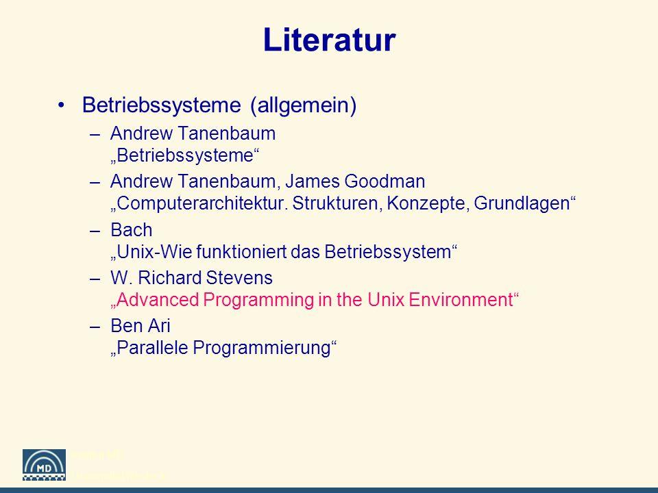 Literatur Betriebssysteme (allgemein)