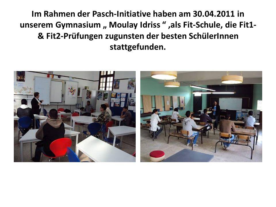 Im Rahmen der Pasch-Initiative haben am 30. 04