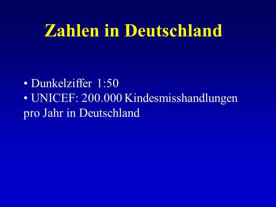 Zahlen in Deutschland Dunkelziffer 1:50