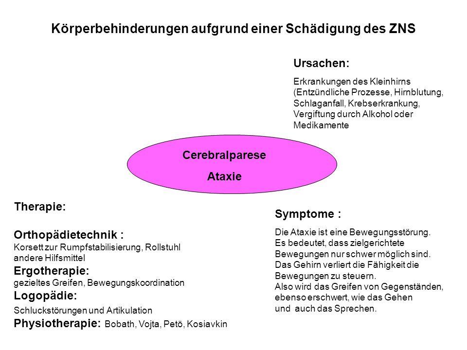 Körperbehinderungen aufgrund einer Schädigung des ZNS