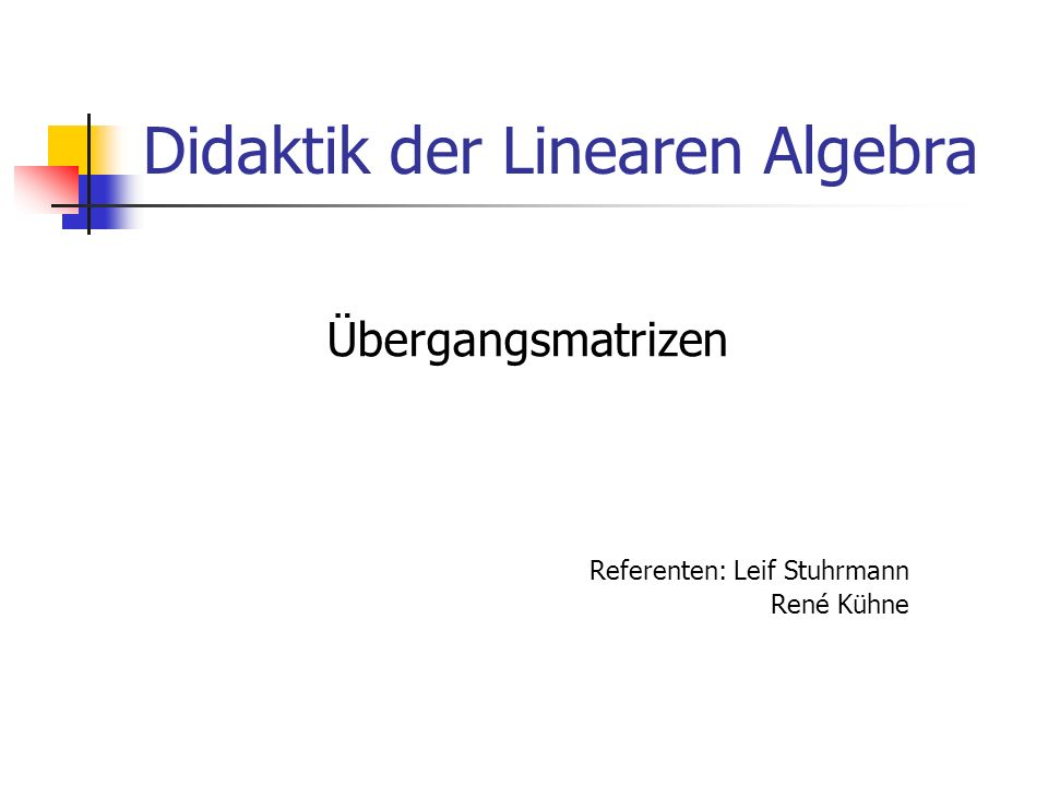 Didaktik der Linearen Algebra