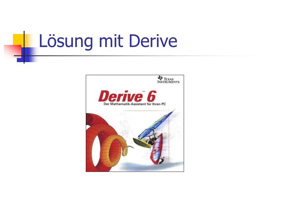 Lösung mit Derive