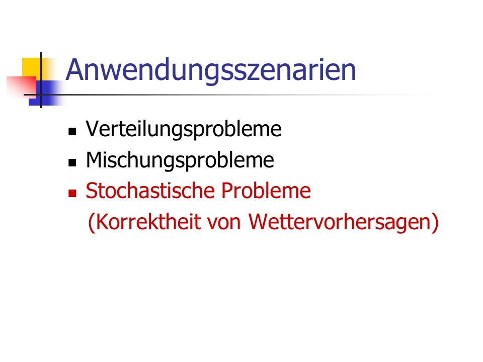 Anwendungsszenarien Verteilungsprobleme Mischungsprobleme