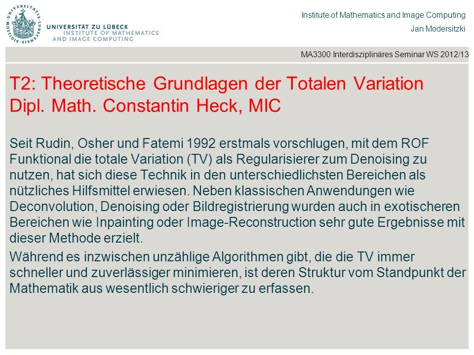 T2: Theoretische Grundlagen der Totalen Variation Dipl. Math