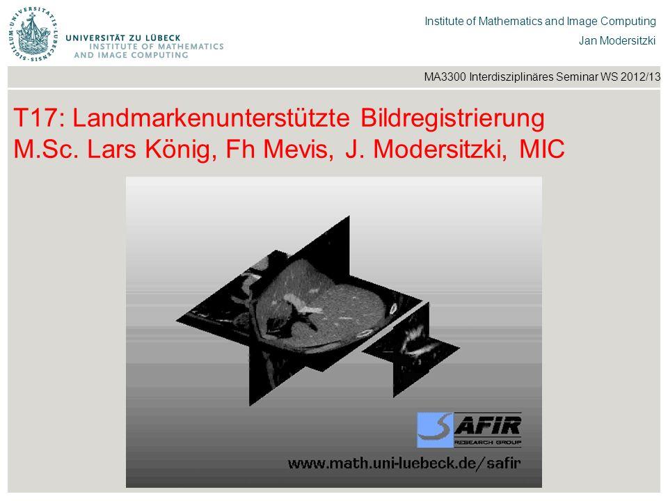 T17: Landmarkenunterstützte Bildregistrierung M. Sc