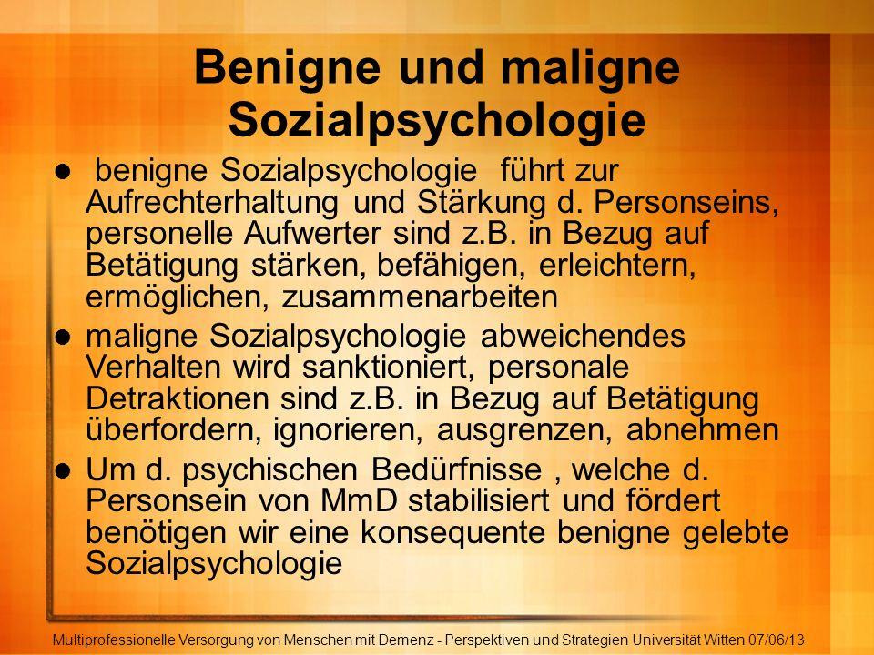 Benigne und maligne Sozialpsychologie