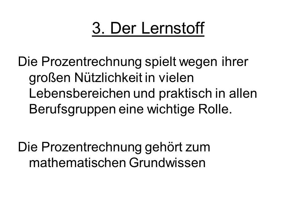 3. Der Lernstoff