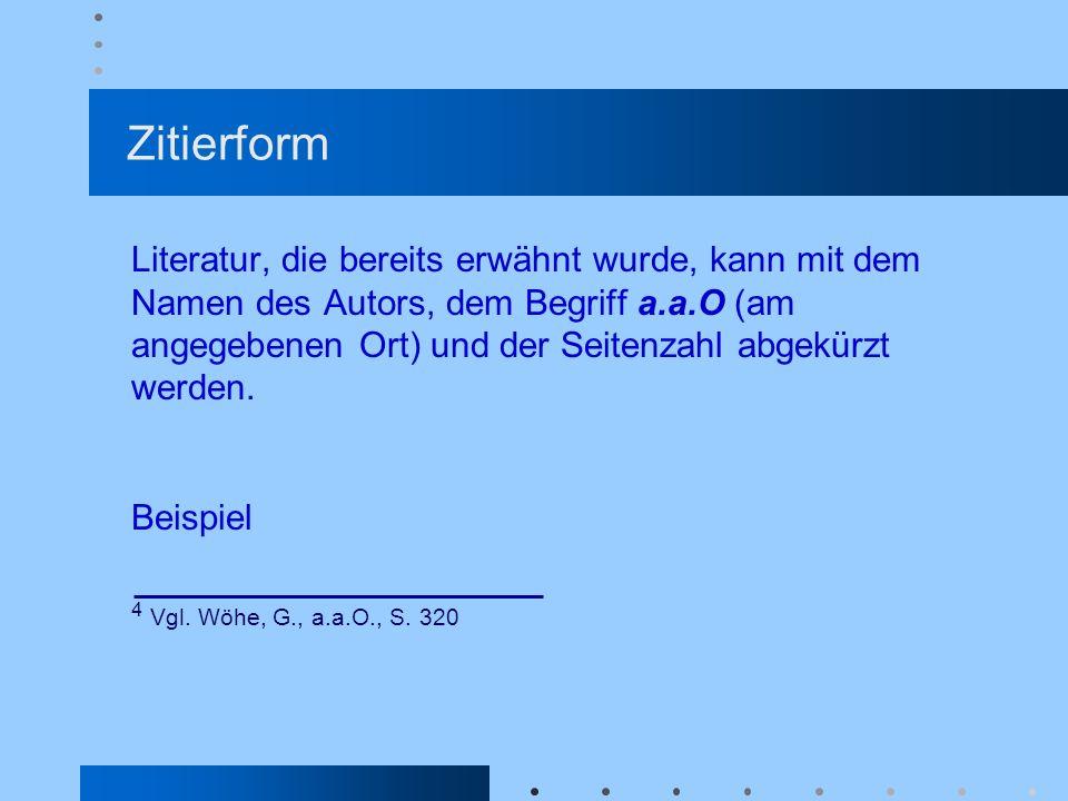 Zitierform