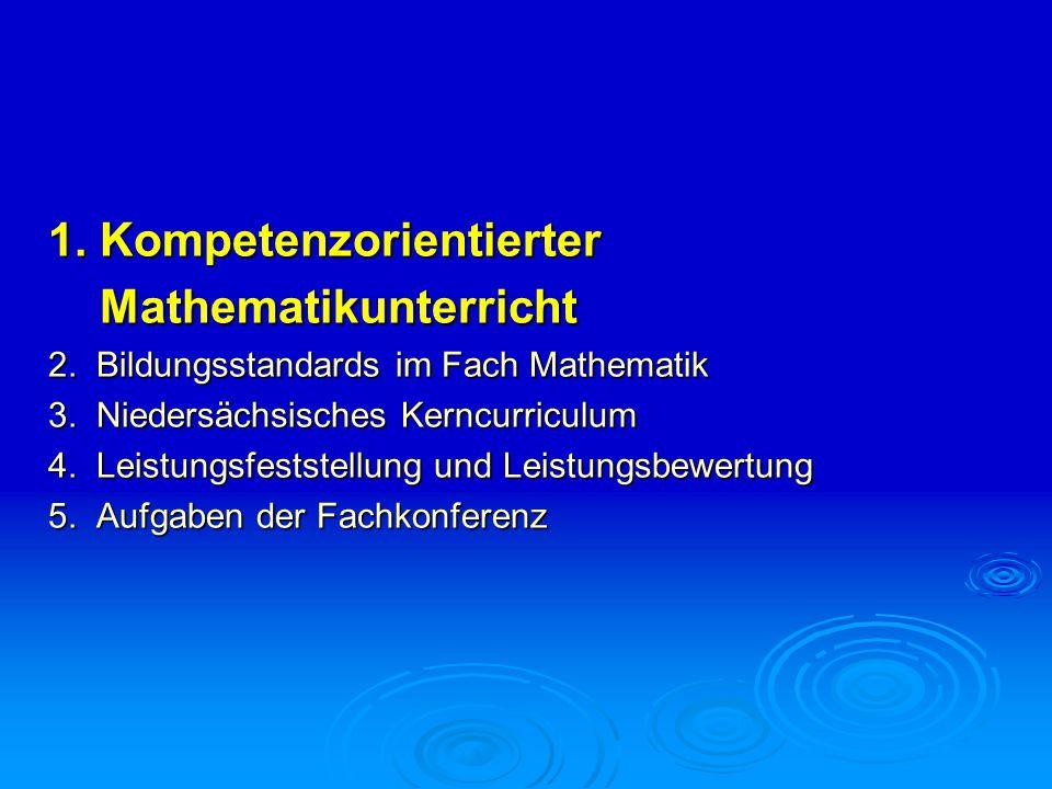 1. Kompetenzorientierter Mathematikunterricht