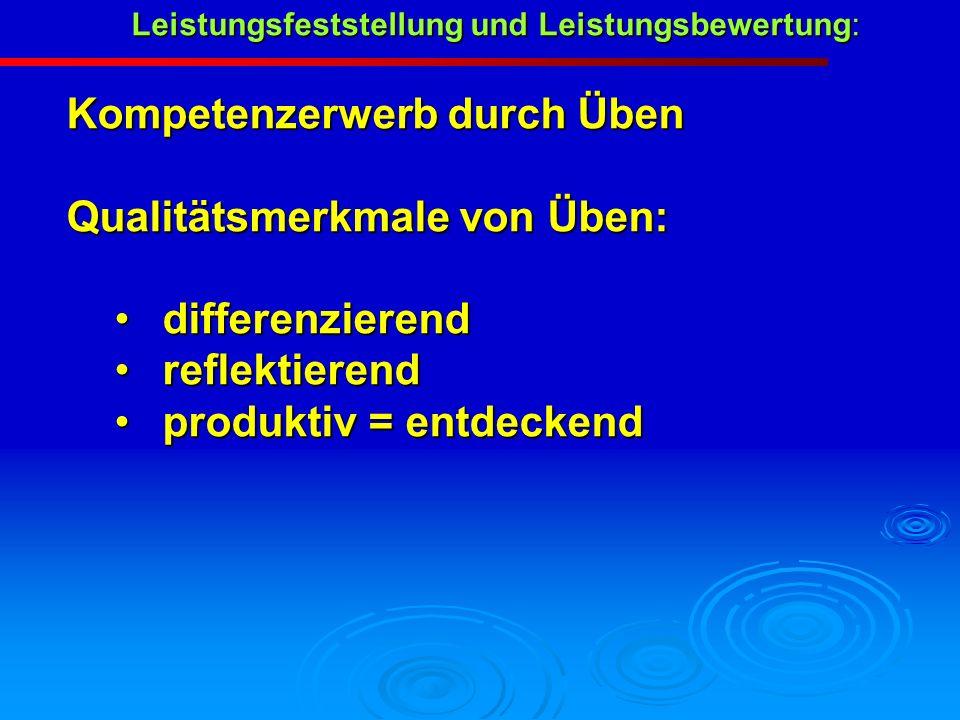 Leistungsfeststellung und Leistungsbewertung:
