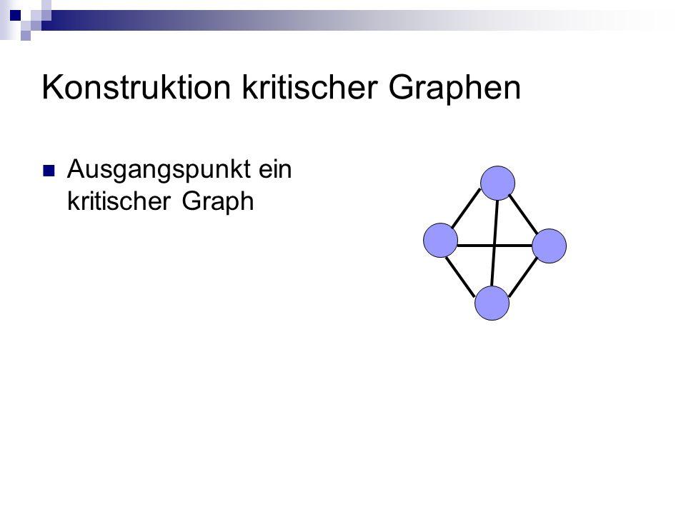 Konstruktion kritischer Graphen