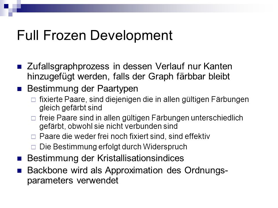 Full Frozen Development