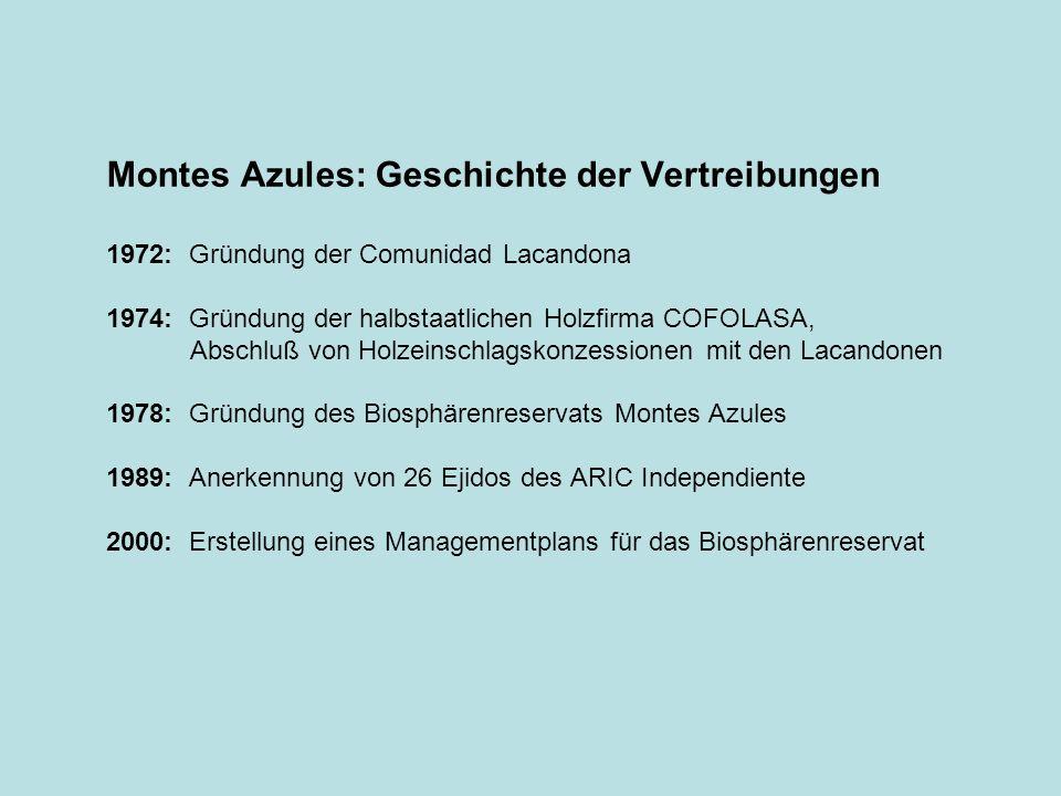 Montes Azules: Geschichte der Vertreibungen