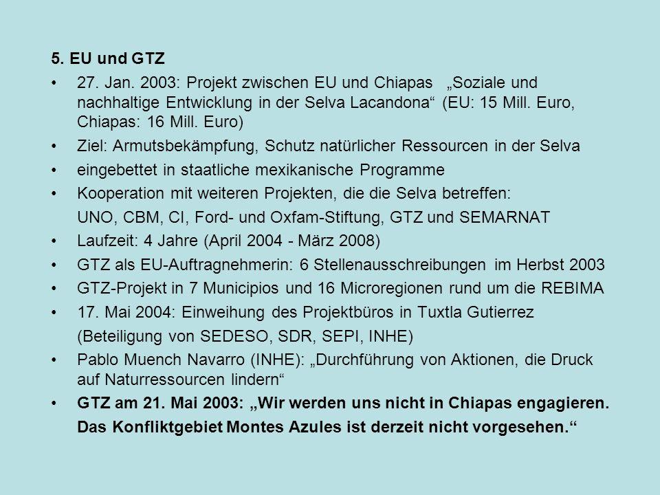 5. EU und GTZ