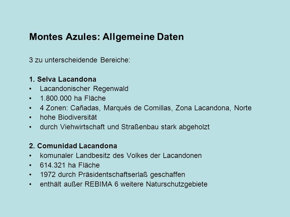 Montes Azules: Allgemeine Daten
