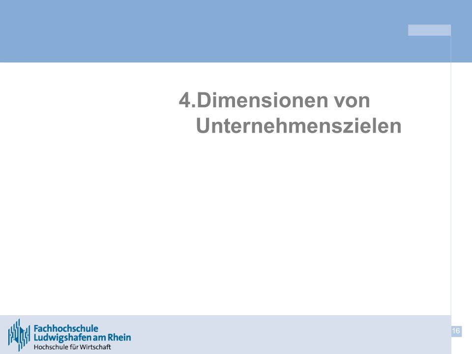 4.Dimensionen von Unternehmenszielen