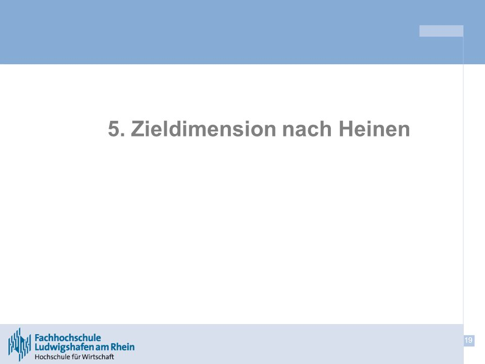 5. Zieldimension nach Heinen