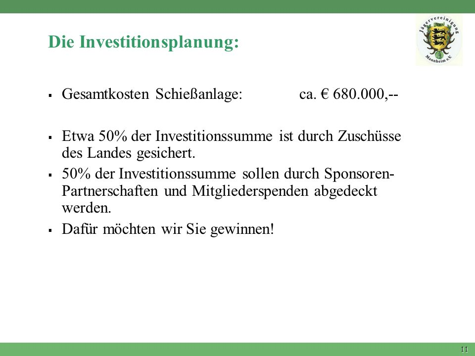 Die Investitionsplanung: