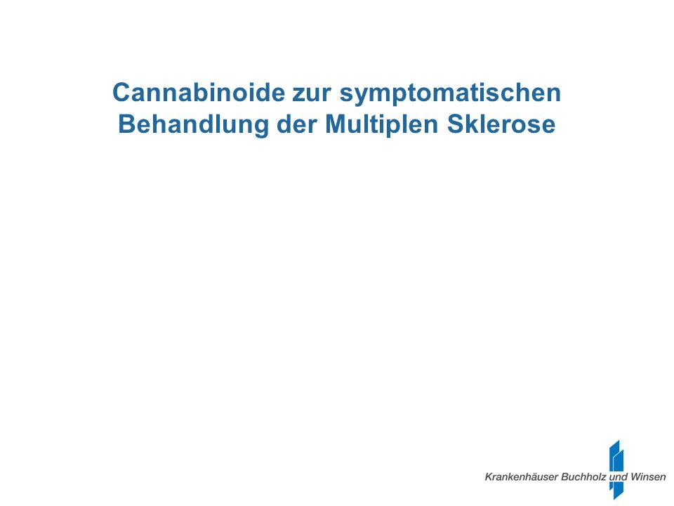 Cannabinoide zur symptomatischen Behandlung der Multiplen Sklerose